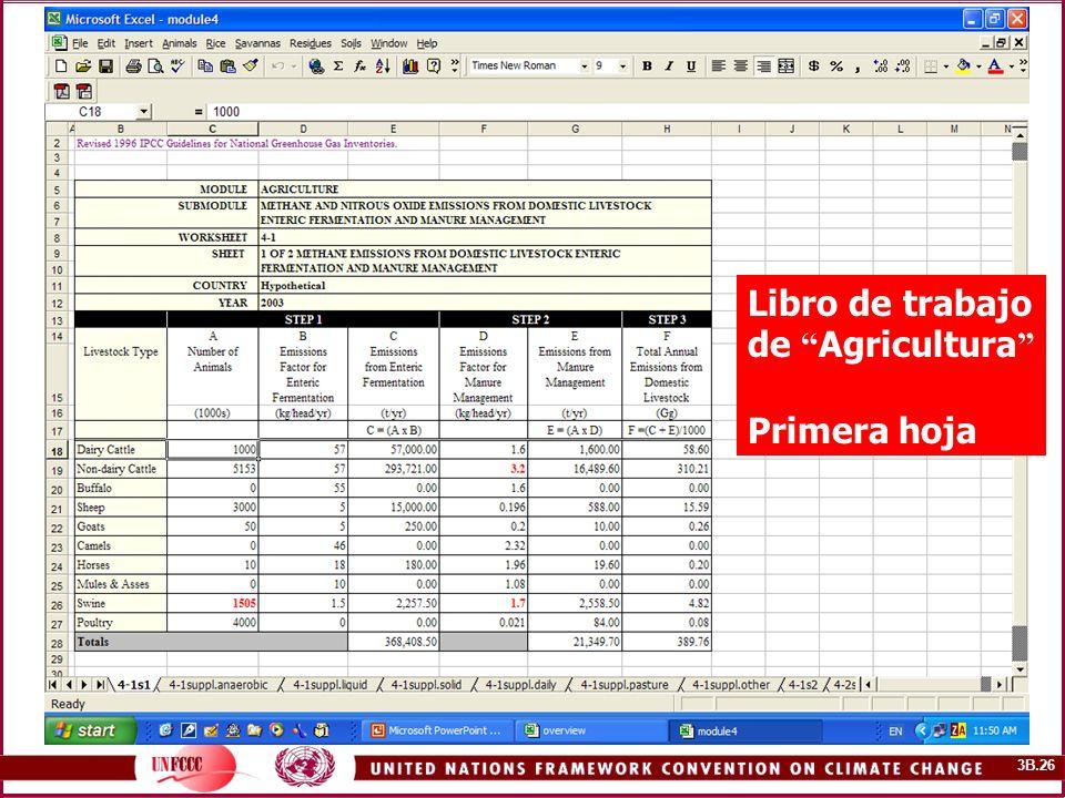 3B.26 PICC software Libro de trabajo de Agricultura Primera hoja