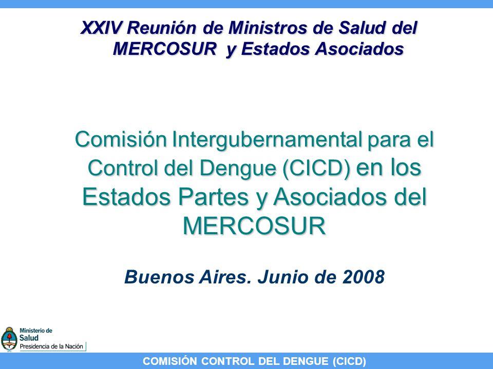 COMISIÓN CONTROL DEL DENGUE (CICD) Reunión: videoconferencia ARGENTINA PARAGUAY BRASIL URUGUAY VENEZUELABOLIVIA CHILE FECHA: 30 de mayo 2008 AGENDA: Avances implementación EGI Avances implementación EGI Áreas riesgo libres vector Áreas riesgo libres vector