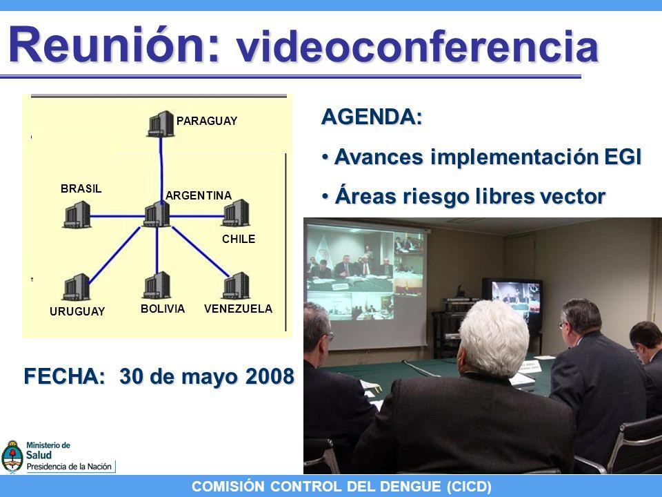 COMISIÓN CONTROL DEL DENGUE (CICD) EGI: avances ARGENTINA 2007 EGI nacional; dos EGI provinciales BRASIL Iniciado el proceso de evaluación interna.
