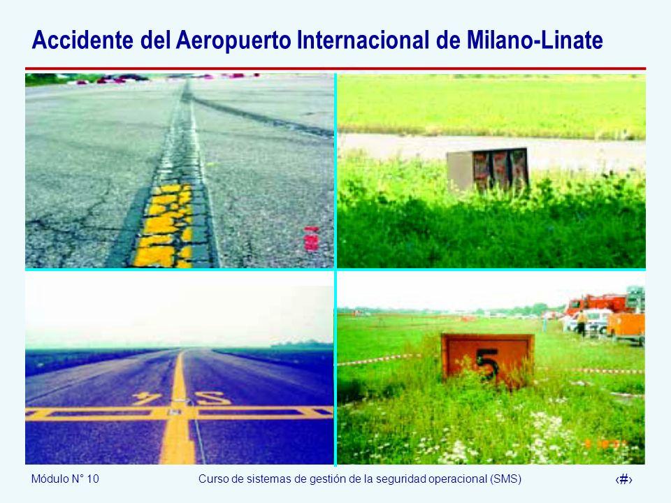 Módulo N° 10Curso de sistemas de gestión de la seguridad operacional (SMS) 32 Accidente del Aeropuerto Internacional de Milano-Linate