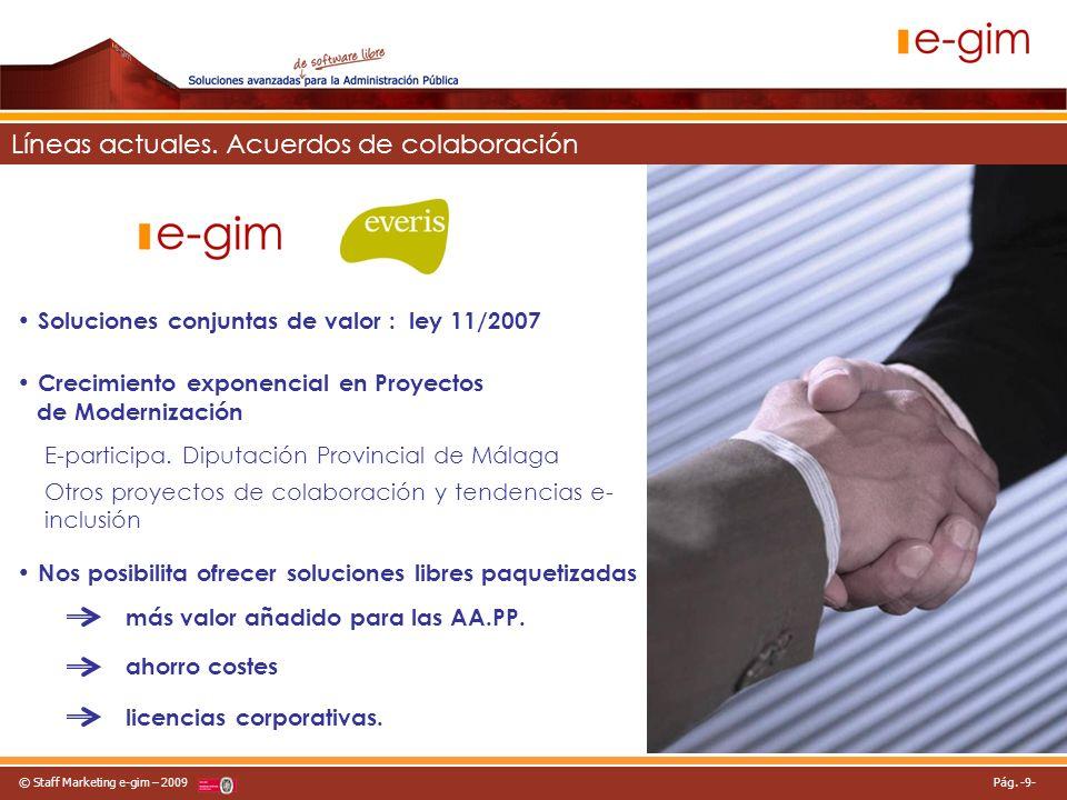 © Staff Marketing e-gim – 2009 Pág.-10- Expectativas.