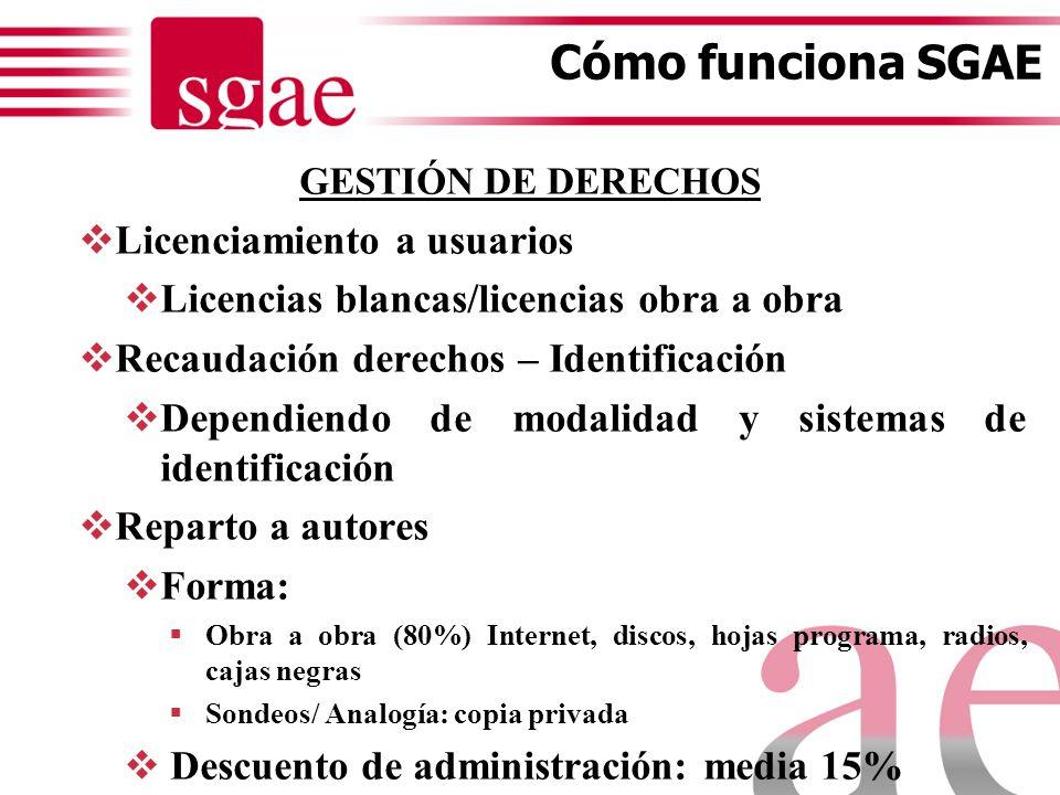 CLASES DE SOCIOS- SGAE