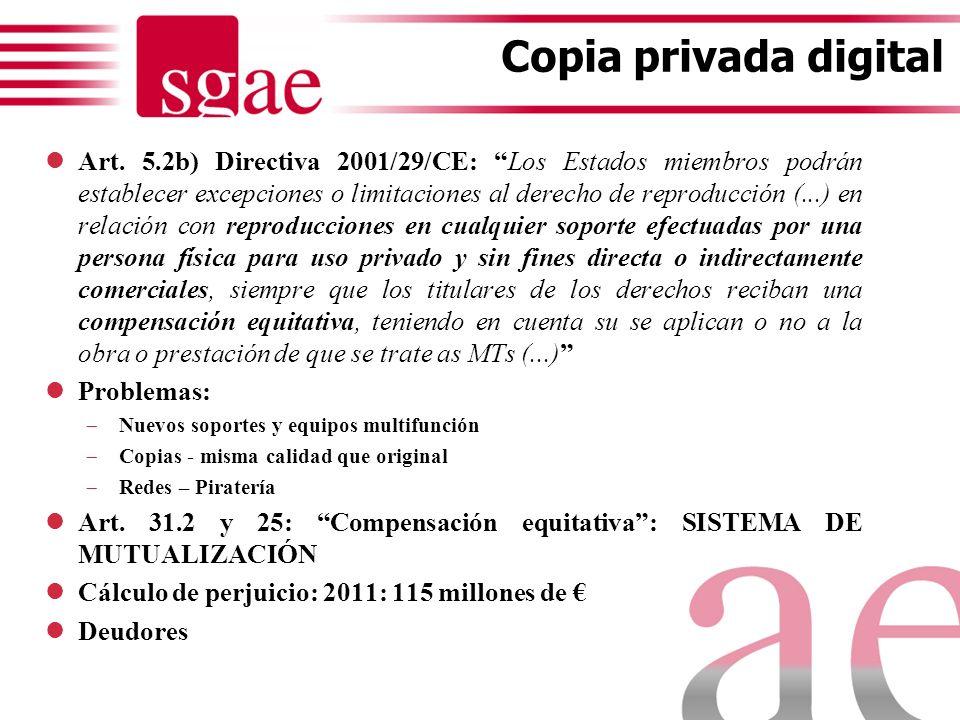 COPIA PRIVADA PUNTO DE PARTIDA: Art. 31.2 y 25 LPI (1992) COPIA PRIVADA ANALÓGICA: Las obras ya divulgadas podrán reproducirse sin autorización del au
