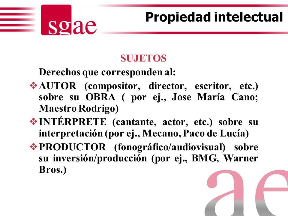 Propiedad intelectual, derechos de autor y entidades de gestión Cristina Perpiñá-Robert Navarro Abogado SGAE 19 de diciembre de 2012