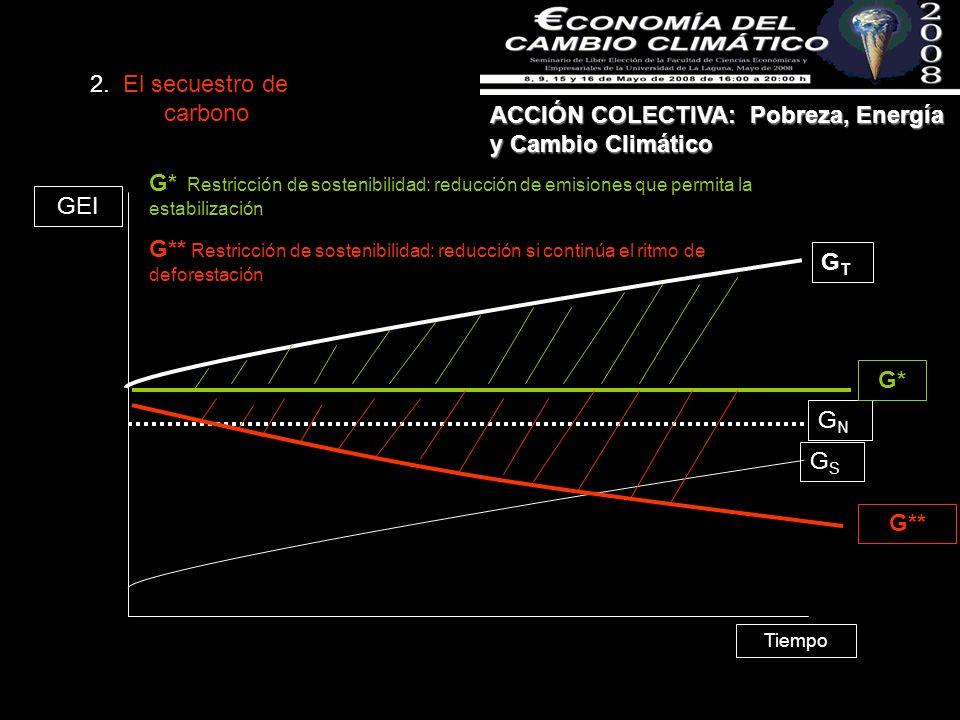 ACCIÓN COLECTIVA: Pobreza, Energía y Cambio Climático Tiempo GTGT GNGN GSGS GEI 2.