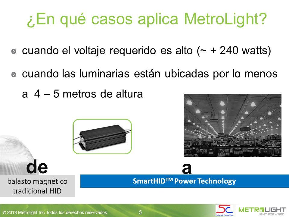 5 © 2013 Metrolight Inc. todos los derechos reservados 5 ¿En qué casos aplica MetroLight.