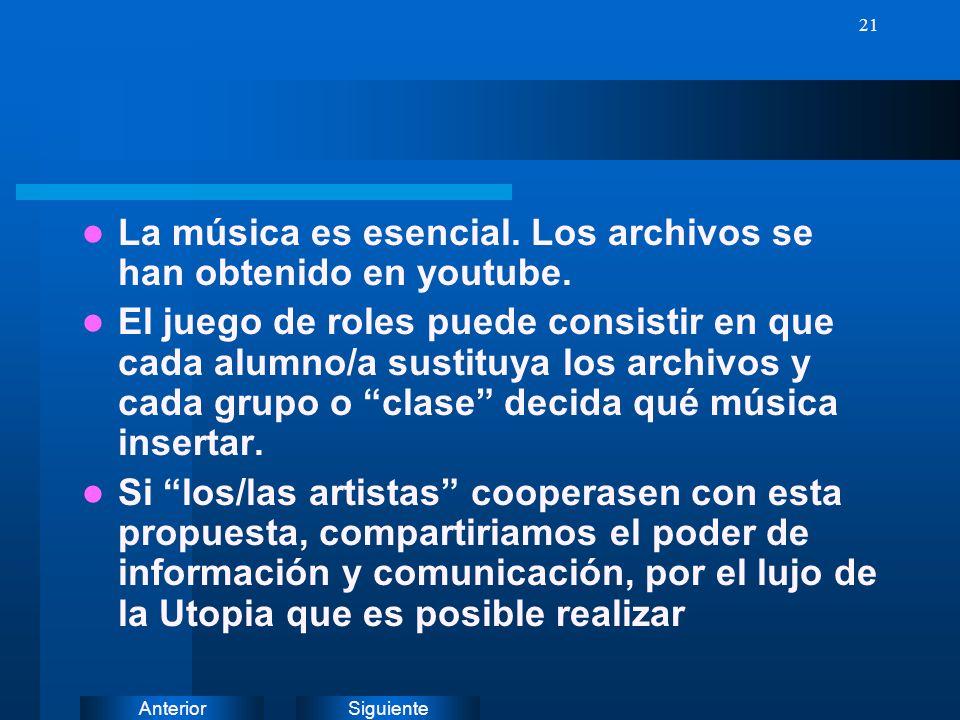 SiguienteAnterior 20 MUSICA