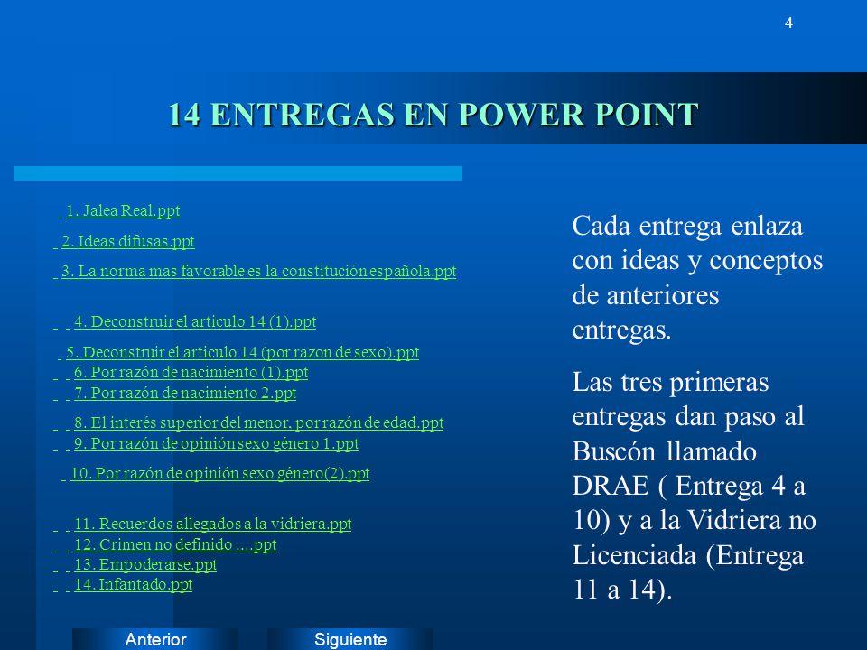 SiguienteAnterior 3 PRESENTACIÓN EN POWER POINT