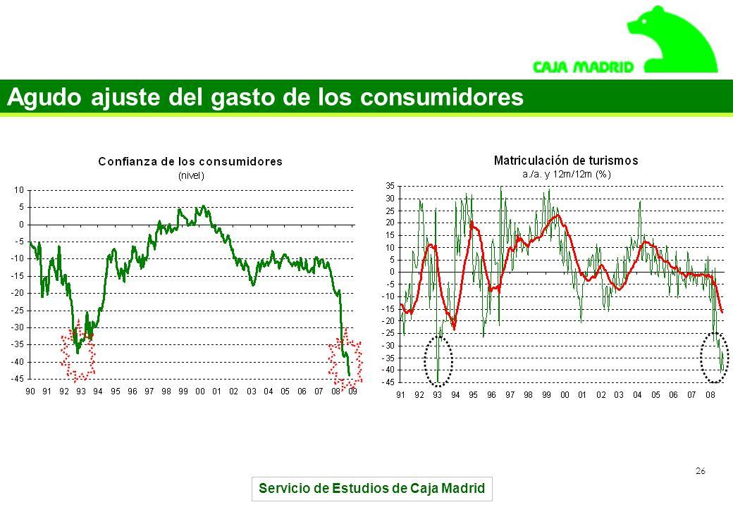 Servicio de Estudios de Caja Madrid 26 Agudo ajuste del gasto de los consumidores