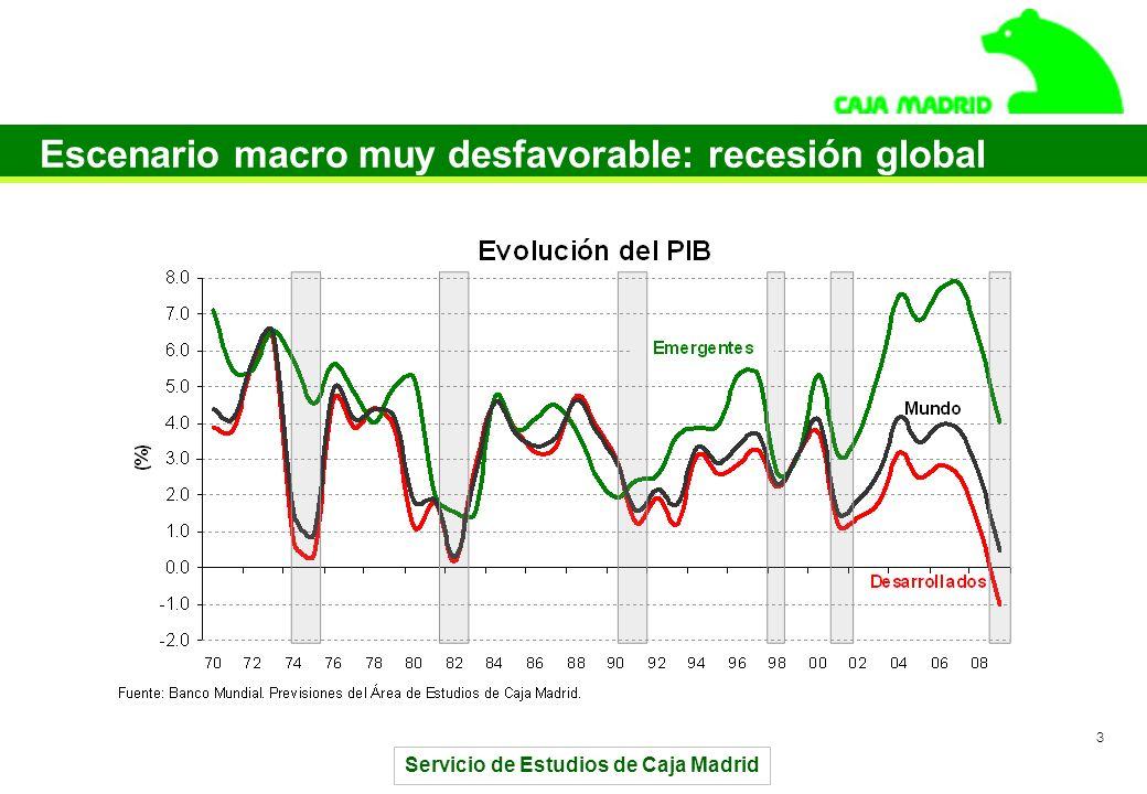Servicio de Estudios de Caja Madrid 3 Escenario macro muy desfavorable: recesión global