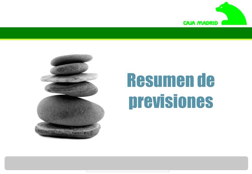 Servicio de Estudios de Caja Madrid 66 Resumen de previsiones