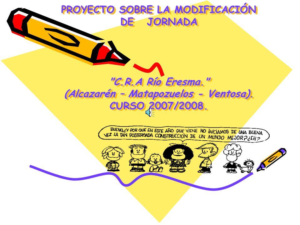 PROYECTO SOBRE LA MODIFICACIÓN DE JORNADA