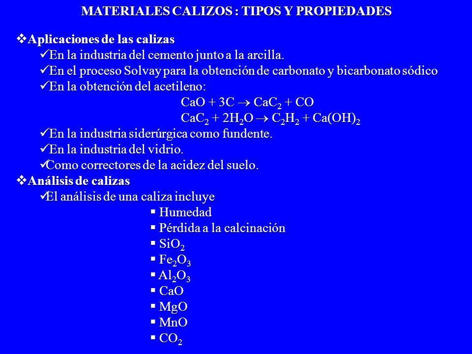 NaOH Br 2 (NH 4 ) 2 C 2 O 4 Secado a 100ºC HCl/Sequedad NH 3 /NH 4 Cl Pérdida por calcinación CALIZA Humedad Residuo insoluble Residuo insoluble en ácidos (SiO 2 ) en ácidos (SiO 2 )Disolución Fe(OH) 3 Fe(OH) 3 Al(OH) 3 Al(OH) 3 Ca 2+ Mg 2+ Mn 2+ Fe(OH) 3 AlO 2 - MnO 2 Ca 2+ Mg 2+ Ca 2+ Mg 2+ CaC 2 O 4 Mg 2+ Calcinación a 1000 ºC Determinaciones en una caliza Determinaciones en una caliza 1.- Perdida por calcinación 2.- Sílice 3.- Óxidos combinados R 2 O 3 (Fe, Al, y TiO 2, Mn 3 O 4, y P 2 O 5, este ultimo como fosfato de Al, Fe y Ti) 4.- Oxido de Calcio 5.- Óxido de Magnesio 6.- Dióxido de Carbono 6.- Dióxido de Carbono ESQUEMA GENERAL PARA EL ANÁLISIS DE CALIZAS