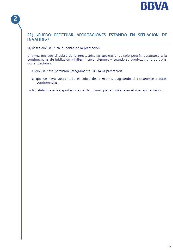 20 Oferta de productos y servicios bancarios BBVA Sí.