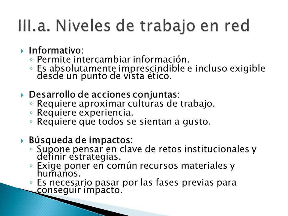 Informativo: Permite intercambiar información.