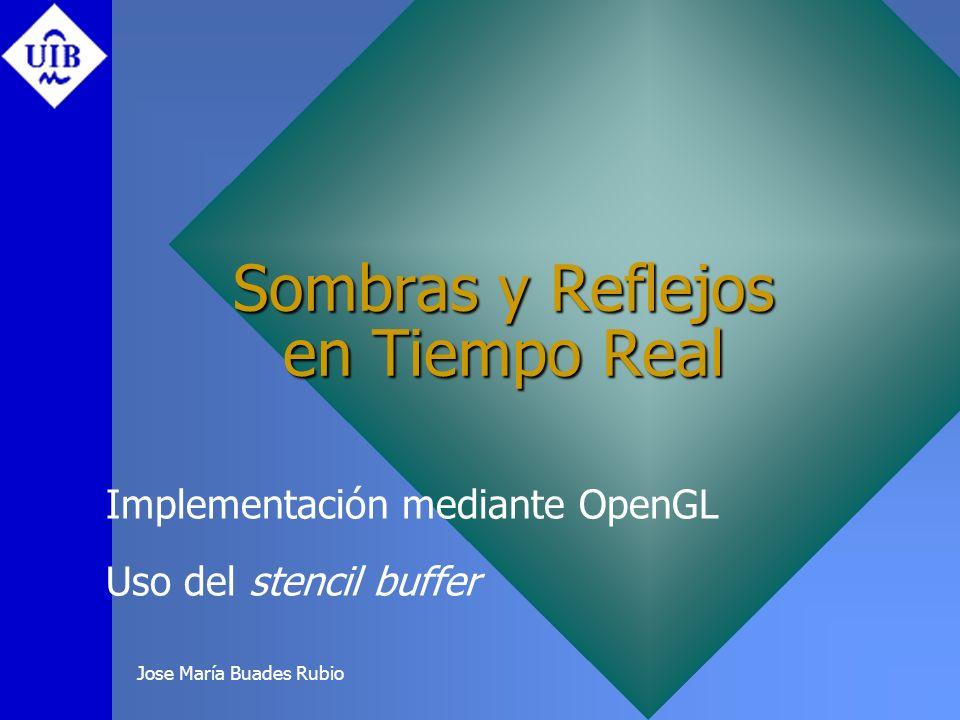 Jose María Buades Rubio Sombras y Reflejos en Tiempo Real Implementación mediante OpenGL Uso del stencil buffer