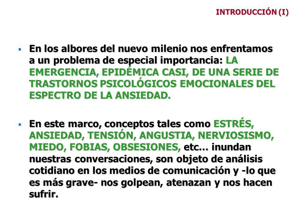 SUBTIPOS (VII) TRASTORNO DE ANGUSTIA (Panic Disorder) Crisis de angustia recidivantes e inesperadas que causan un estado permanente de preocupación al paciente (miedo al miedo).