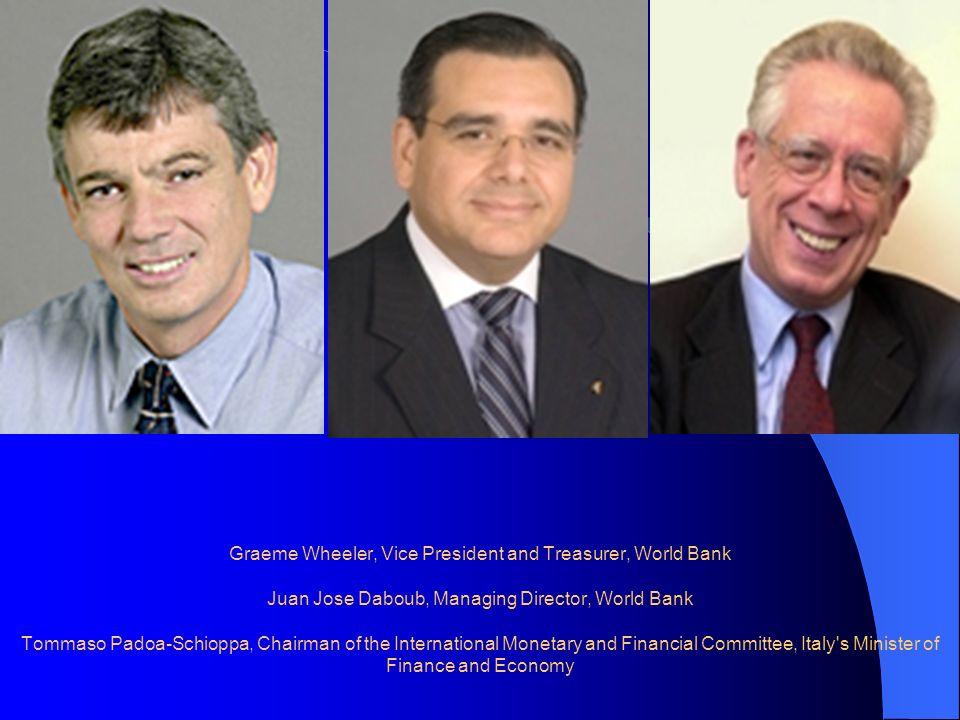 Graeme Wheeler, Vice President and Treasurer, World Bank Juan Jose Daboub, Managing Director, World Bank Tommaso Padoa-Schioppa, Chairman of the Inter