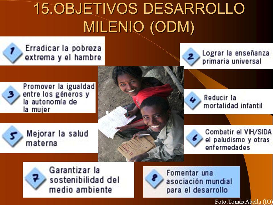 15.OBJETIVOS DESARROLLO MILENIO (ODM) Foto:Tomás Abella (IO)