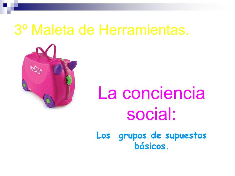 3º Maleta de Herramientas. La conciencia social: Los grupos de supuestos básicos.