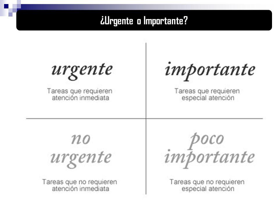 ¿Urgente o Importante?