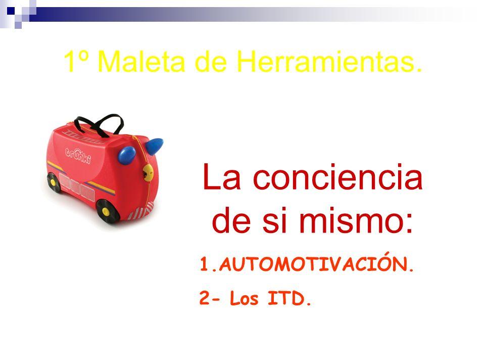 1º Maleta de Herramientas. La conciencia de si mismo: 1.AUTOMOTIVACIÓN. 2- Los ITD.