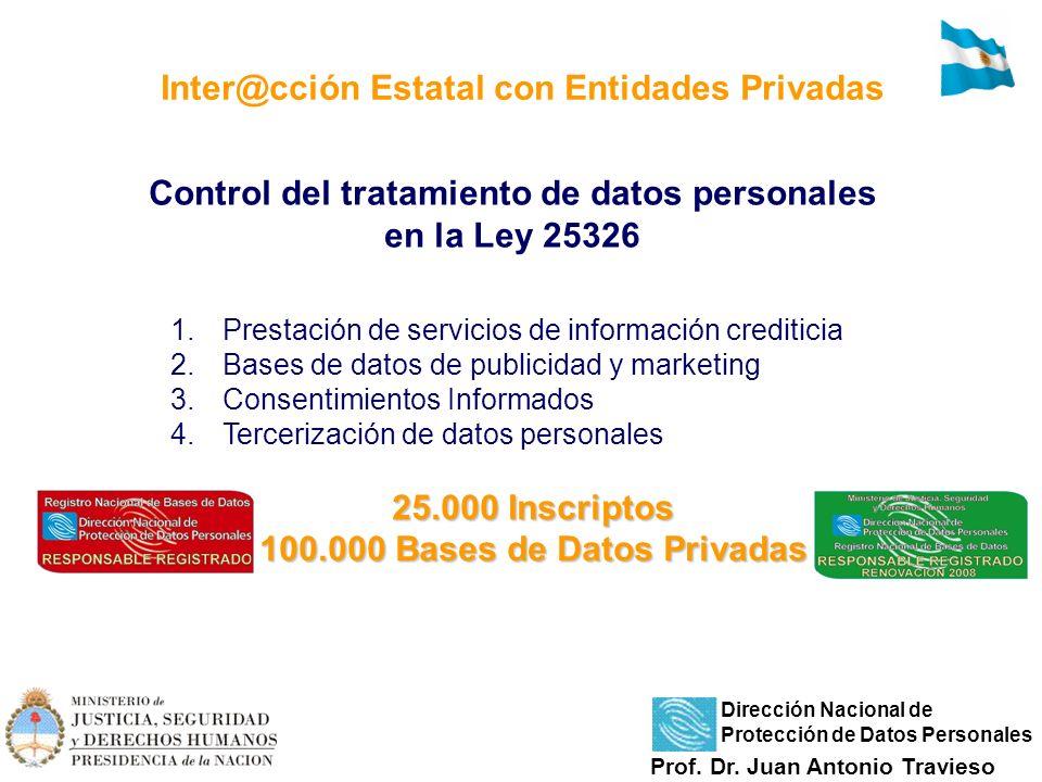 1.Prestación de servicios de información crediticia 2.Bases de datos de publicidad y marketing 3.Consentimientos Informados 4.Tercerización de datos p