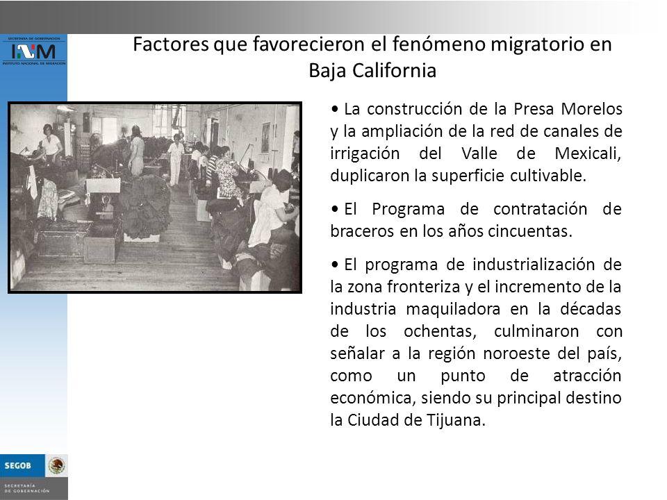 La construcción de la Presa Morelos y la ampliación de la red de canales de irrigación del Valle de Mexicali, duplicaron la superficie cultivable. El