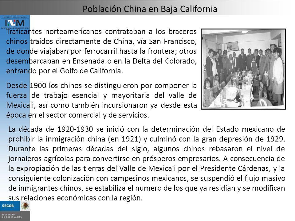 Traficantes norteamericanos contrataban a los braceros chinos traídos directamente de China, vía San Francisco, de donde viajaban por ferrocarril hast