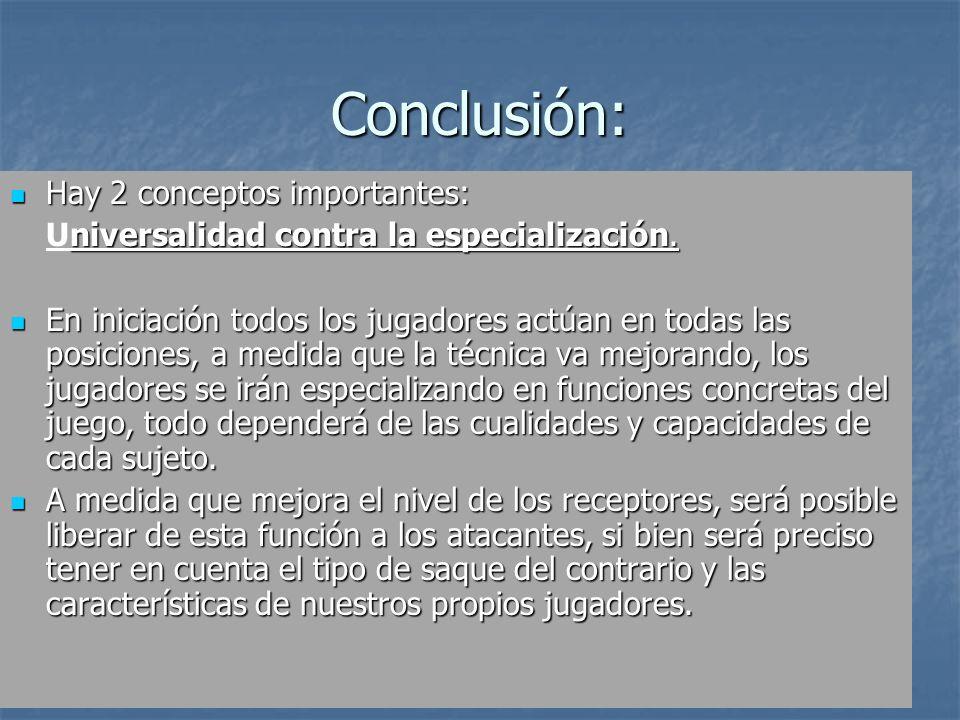 05/01/201421 Conclusión: Hay 2 conceptos importantes: Hay 2 conceptos importantes: niversalidad contra la especialización. Universalidad contra la esp