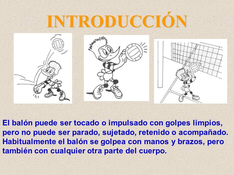 INTRODUCCIÓN Cada equipo dispone de un número limitado de toques para devolver el balón hacia el campo contrario.