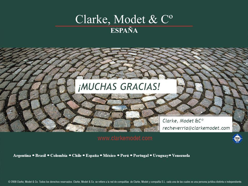 43 Clarke, Modet & Cª 2012 43 ¡ MUCHAS GRACIAS! Clarke, Modet &Cº recheverria@clarkemodet.com Argentina Brasil Colombia Chile España México Perú Portu