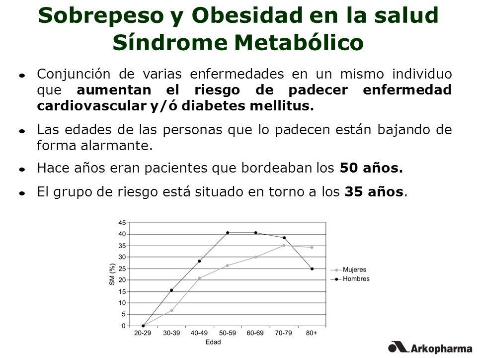 Conjunción de varias enfermedades en un mismo individuo que aumentan el riesgo de padecer enfermedad cardiovascular y/ó diabetes mellitus. Las edades