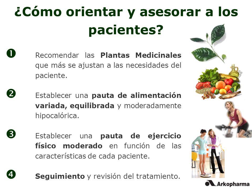 ¿Cómo orientar y asesorar a los pacientes? Recomendar las Plantas Medicinales que más se ajustan a las necesidades del paciente. Establecer una pauta
