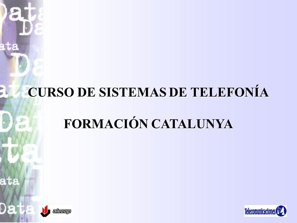 CURSO DE SISTEMAS DE TELEFONÍA FORMACIÓN CATALUNYA