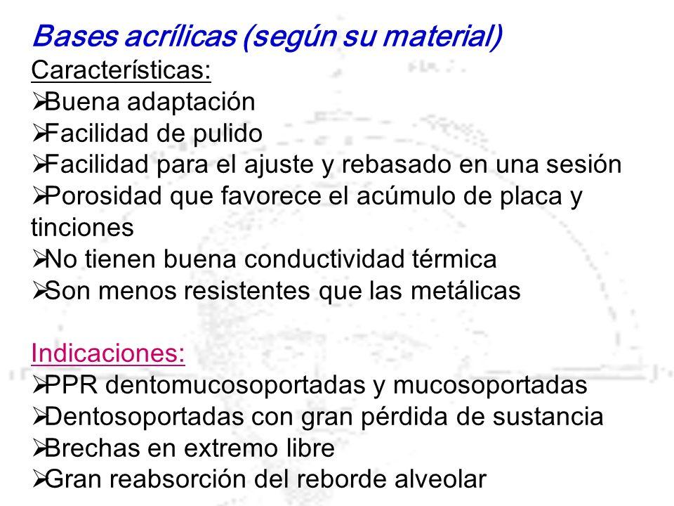 Ventajas -Correcto soporte, estabilización y reparto de presiones.