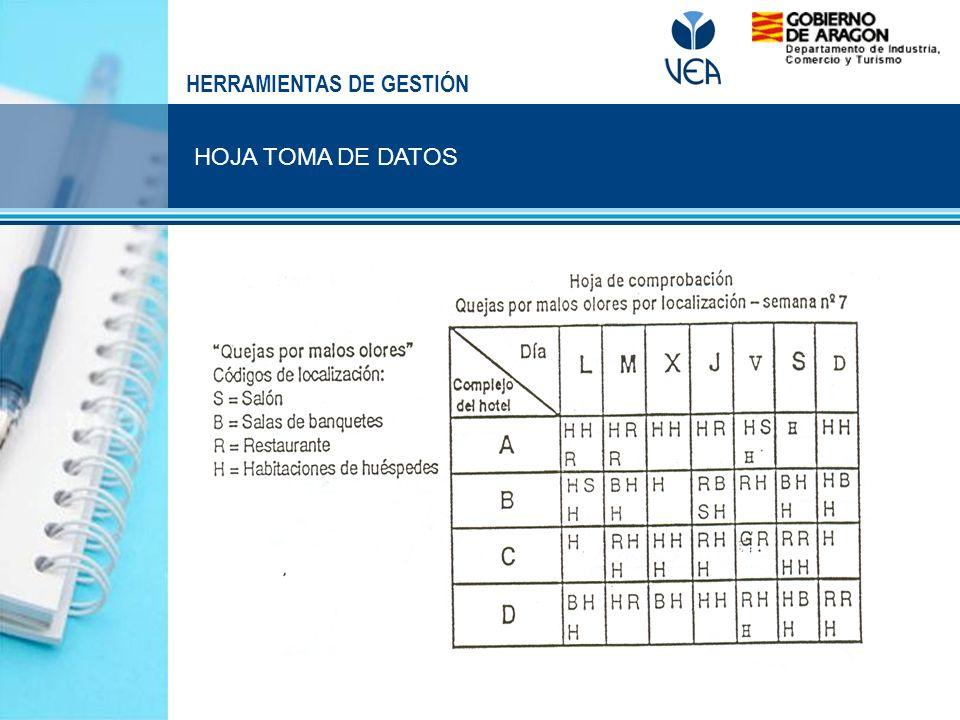 HOJA TOMA DE DATOS HERRAMIENTAS DE GESTIÓN