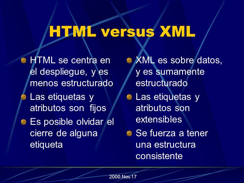 2000.Nov.17 ¿Qué problemas tiene HTML.