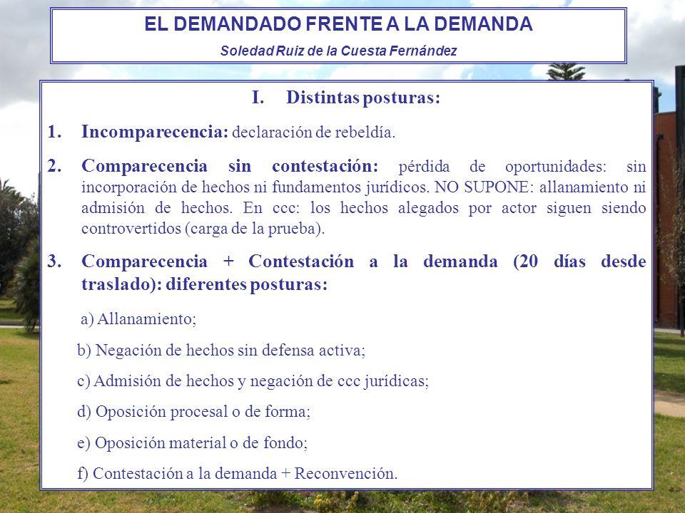 Forma de la contestación: -juicio ordinario: Art.405 LEC: escrita, estructura prevista por el Art.