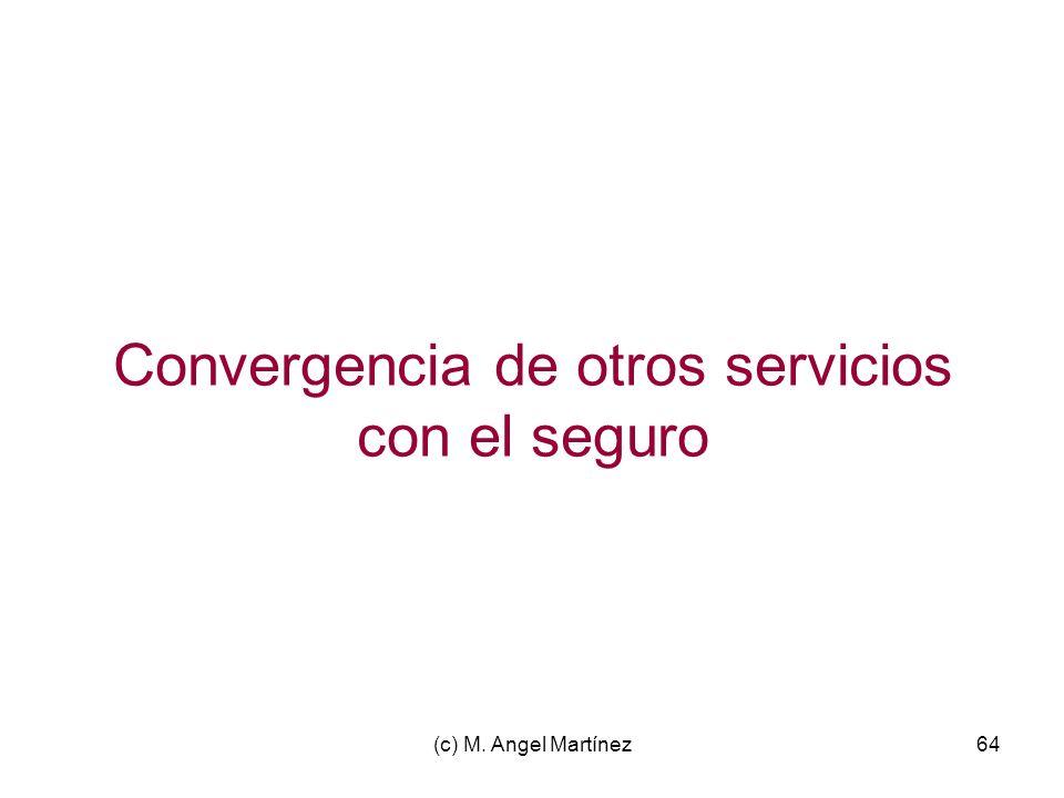 (c) M. Angel Martínez64 Convergencia de otros servicios con el seguro