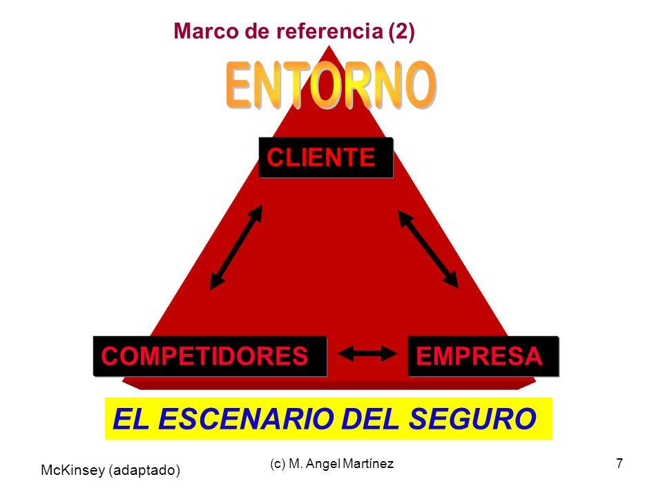 (c) M. Angel Martínez7 EL ESCENARIO DEL SEGURO CLIENTE COMPETIDORESEMPRESA McKinsey (adaptado) Marco de referencia (2)