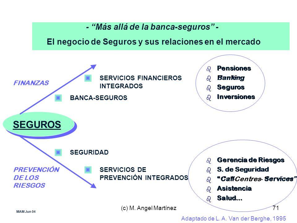 (c) M. Angel Martínez71 MAM Jun 04 - Más allá de la banca-seguros - El negocio de Seguros y sus relaciones en el mercado SEGUROS SEGURIDAD BANCA-SEGUR