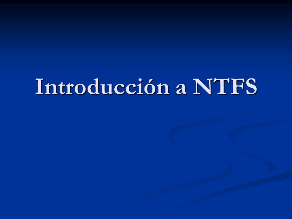 Introducción a NTFS
