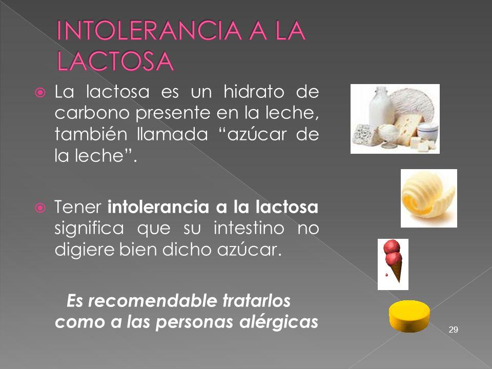 La lactosa es un hidrato de carbono presente en la leche, también llamada azúcar de la leche. Tener intolerancia a la lactosa significa que su intesti