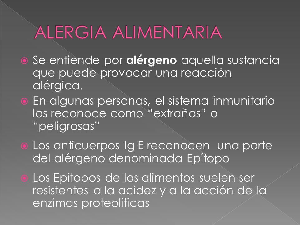 Se entiende por alérgeno aquella sustancia que puede provocar una reacción alérgica. En algunas personas, el sistema inmunitario las reconoce como ext