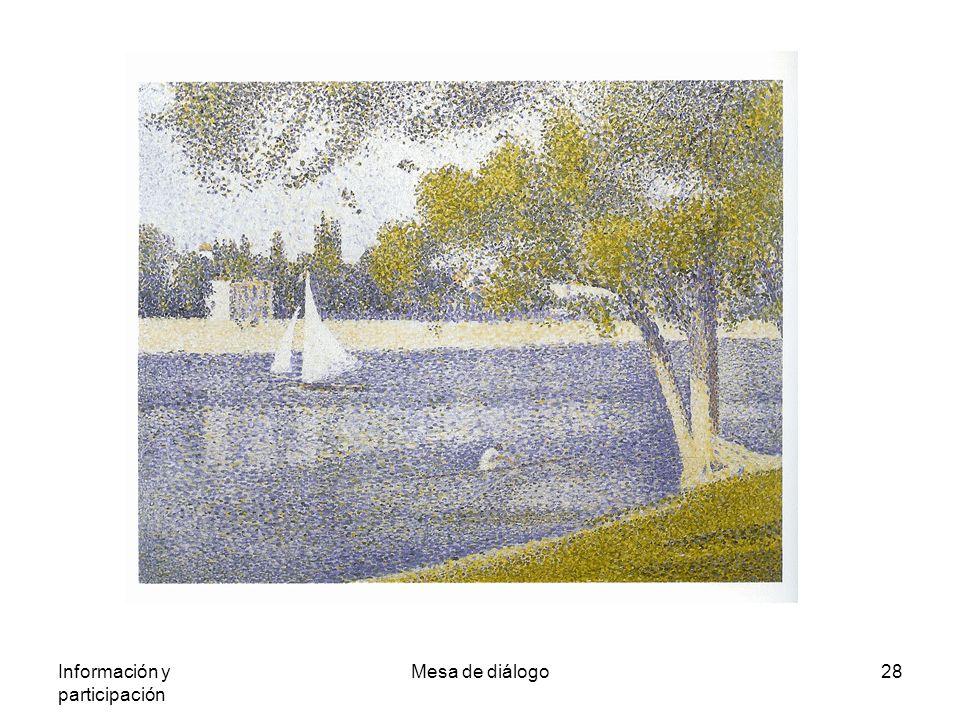 Información y participación Mesa de diálogo28 Georges Seurat.-El Sena a su paso
