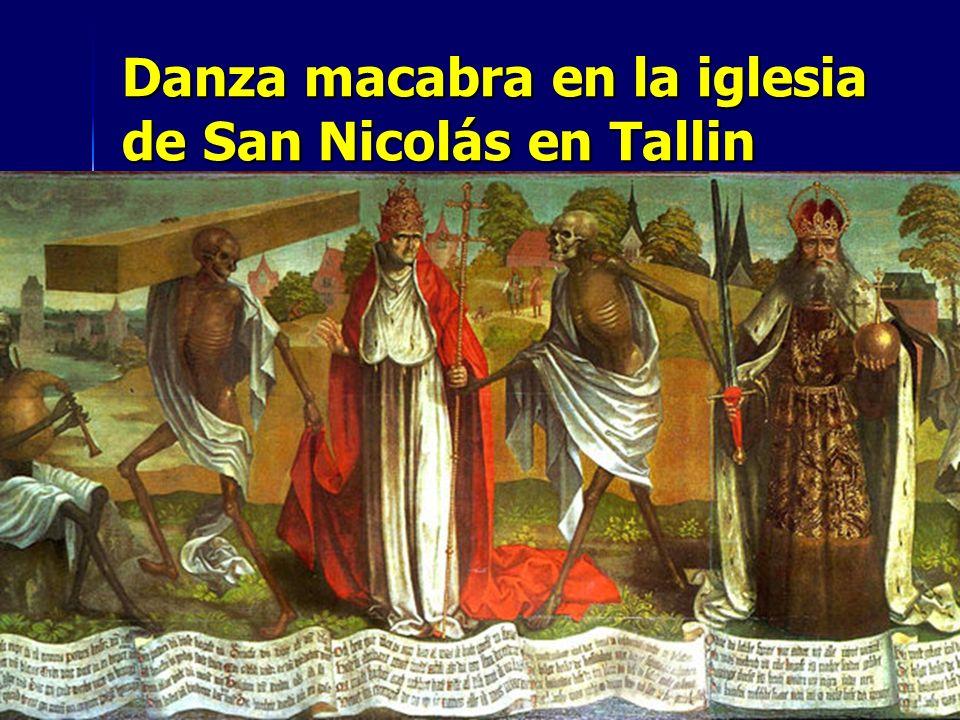 Danza macabra en la iglesia de San Nicolás en Tallin