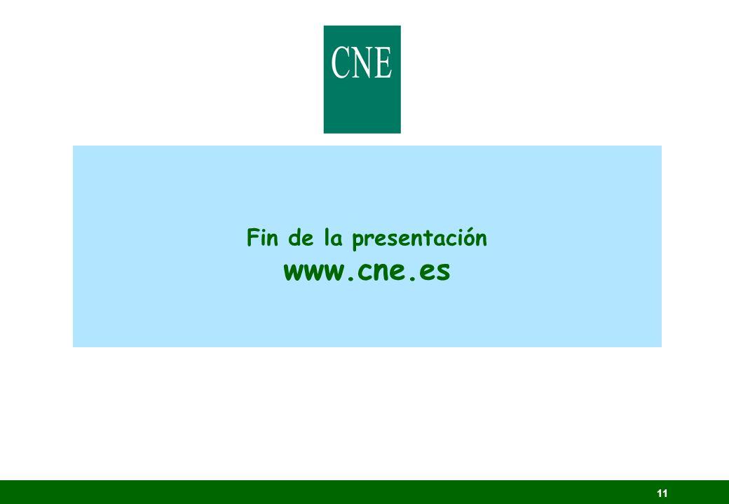 11 Fin de la presentación www.cne.es