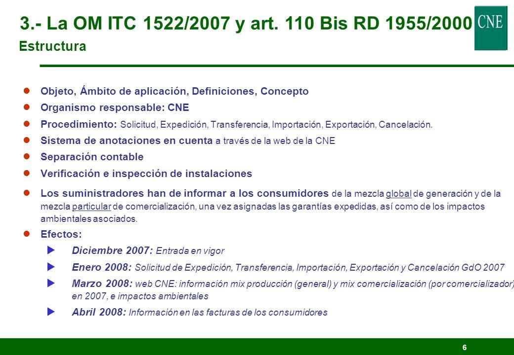 6 lObjeto, Ámbito de aplicación, Definiciones, Concepto lOrganismo responsable: CNE lProcedimiento: Solicitud, Expedición, Transferencia, Importación,