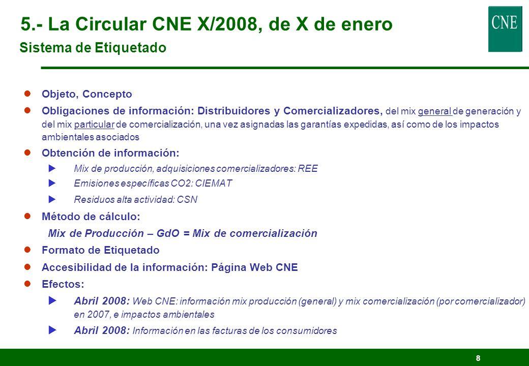 8 lObjeto, Concepto lObligaciones de información: Distribuidores y Comercializadores, del mix general de generación y del mix particular de comerciali